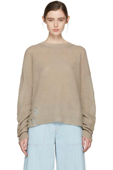 Acne Studios - Beige Aisha Knit Pullover