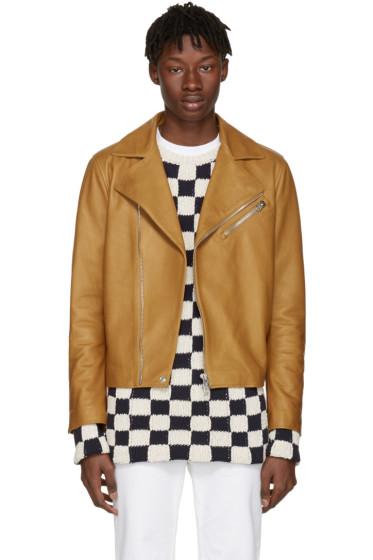 Acne Studios - Brown Leather Axl Jacket