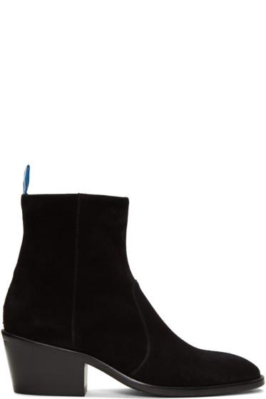 Acne Studios - Black Suede Jesse Boots