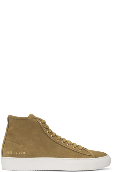 Common Projects - Brown Suede Tournament High Sneakers