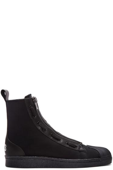 Y-3 - Black Pro Zip High-Top Sneakers
