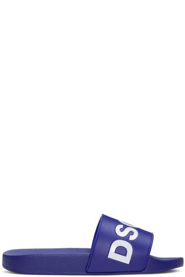 Dsquared2 - Navy Logo Slide Sandals