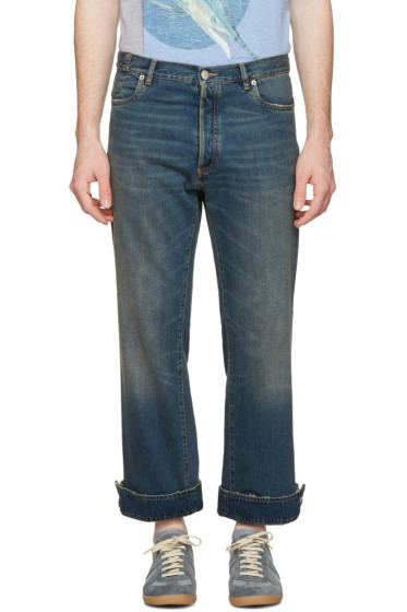 Maison Margiela - Blue Cuffed Up Jeans