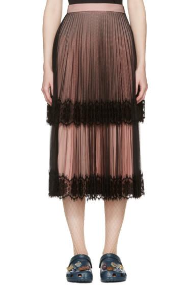Christopher Kane - Black & Pink Layered Tulle Skirt