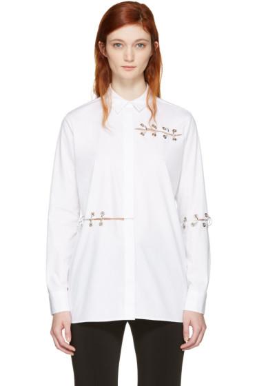 Christopher Kane - White Eyelets & Rings Shirt