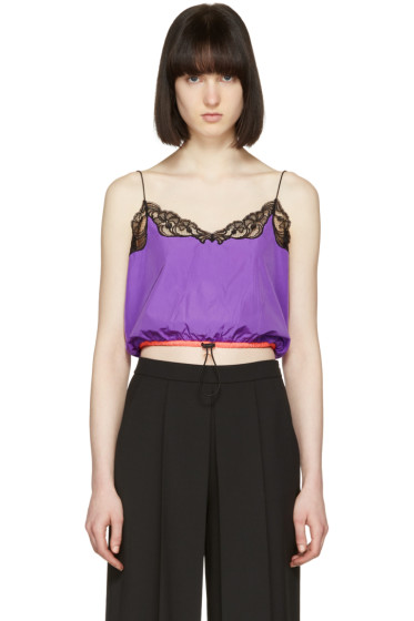 Alexander Wang - Purple Cropped Camisole