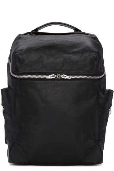 Alexander Wang - Black Leather Small Wallie Backpack