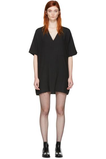 MM6 Maison Margiela - Black Oversized Tunic Dress