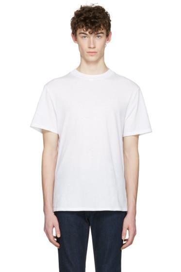 T by Alexander Wang - White High Neck T-Shirt