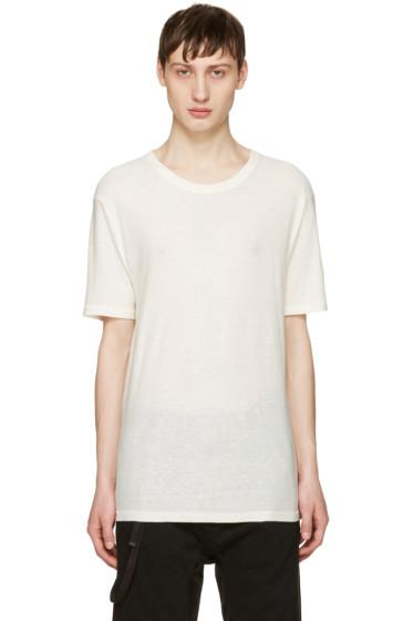 T by Alexander Wang - Ivory Silk-Blend T-Shirt