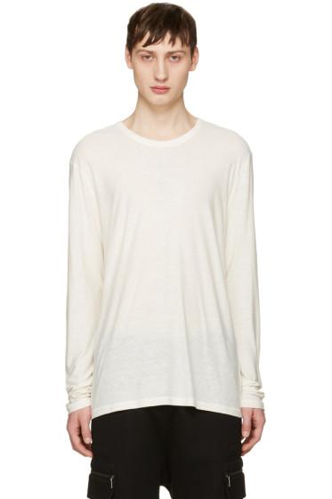 T by Alexander Wang - Ivory Long Sleeve T-Shirt