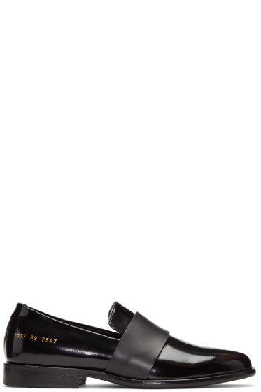 Robert Geller - Black Common Projects Edition Slip-On Loafers