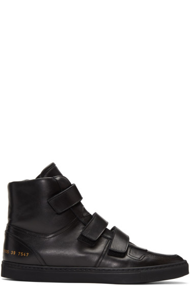 Robert Geller - Black Common Projects Edition High-Top Sneakers