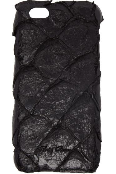 Rick Owens - Black Pirarucu Fish Leather iPhone 6 Case