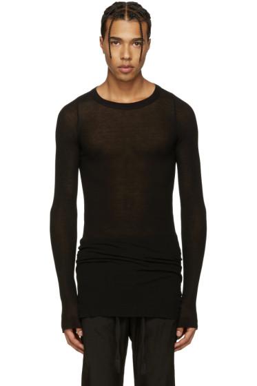 Rick Owens - Black Ribbed T-Shirt