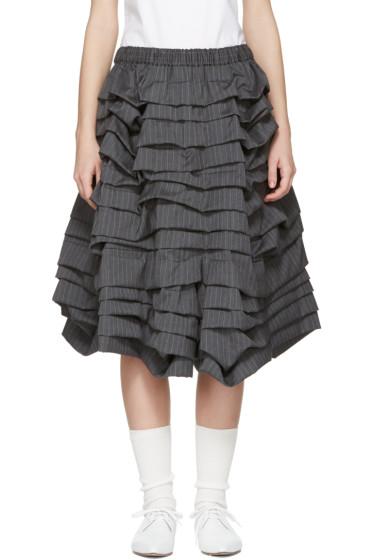 Comme des Garçons - Grey Volume Ruffle Shorts