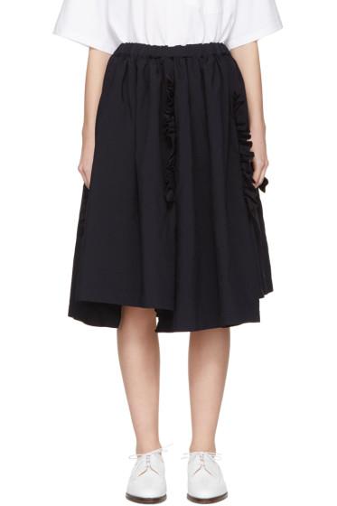 Comme des Garçons - Navy Ruffle Skirt