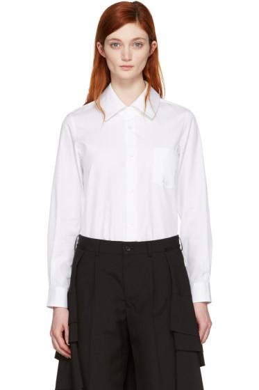 Comme des Garçons - White Long Sleeve Shirt