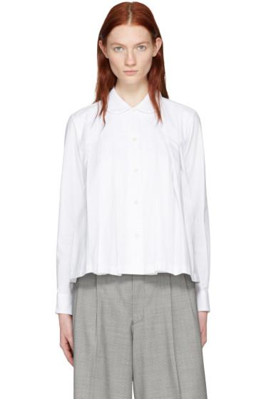 Comme des Garçons - White Pleated Shirt
