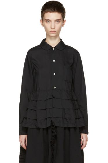 Comme des Garçons - Black Ruffle Shirt