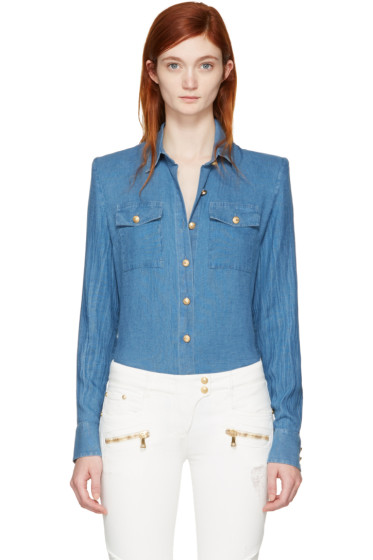 Balmain - Blue Buttons Shirt