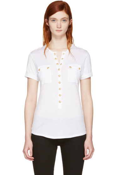 Balmain - White Pockets T-Shirt