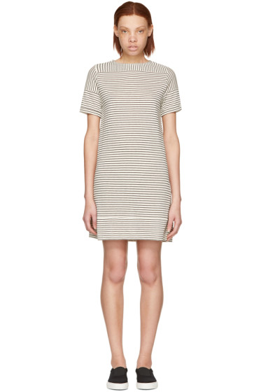 A.P.C. - Ecru Striped Mauricia Dress