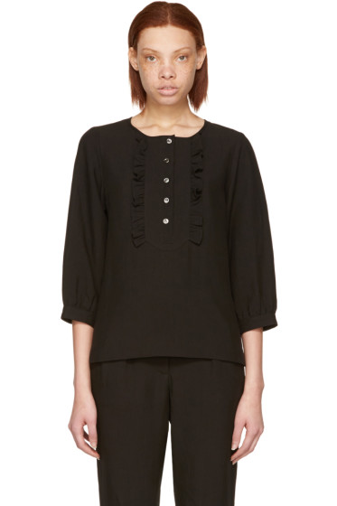 A.P.C. - Black Cleo Blouse