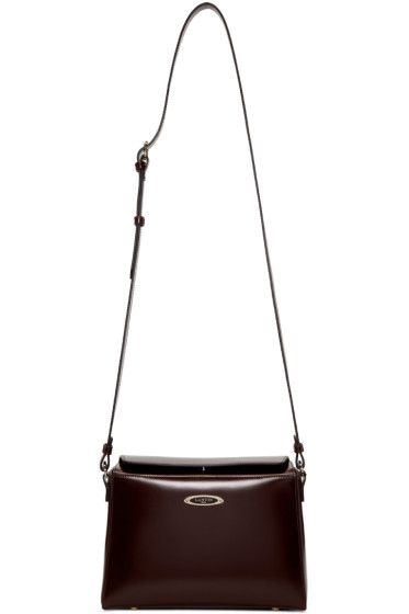 Lanvin - Burgundy Small Cube Bag