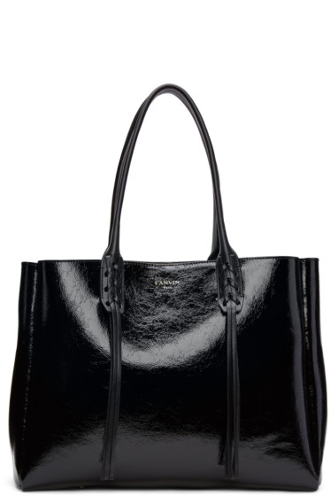 Lanvin - Black Patent Small Shopper Tote