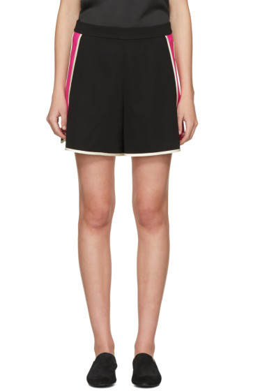 Lanvin - Black & Pink Panelled Shorts