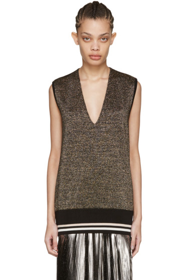 Lanvin - Gold Lurex Tank Top