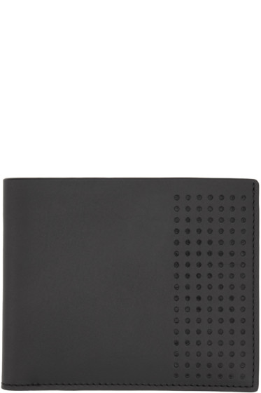 Lanvin - Black Leather Perforated Wallet