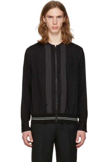 Lanvin - Black Zip Front Shirt