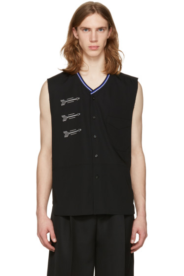 Lanvin - Black Embroidered Shirt