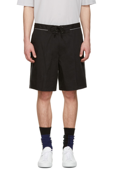 Lanvin - Black Tie-Up Shorts