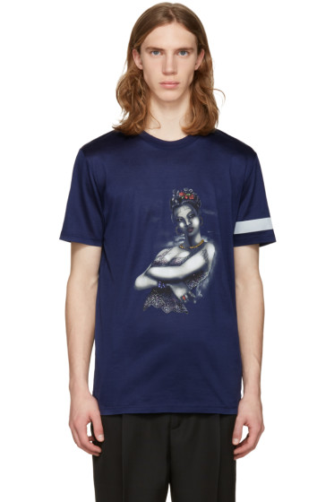 Lanvin - Blue Tattoo T-Shirt