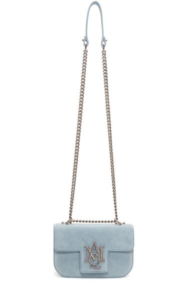 Alexander McQueen - Blue Small Insignia Chain Satchel