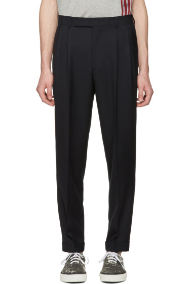 Paul Smith - Navy Pleated Trousers