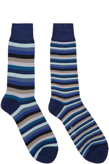 Paul Smith - Blue Odd Stripe Socks