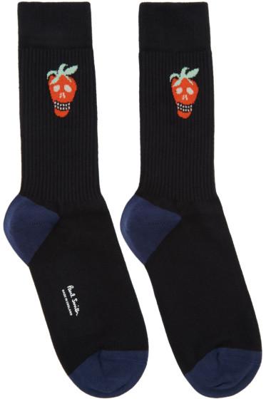 Paul Smith - Black Jacquard Socks