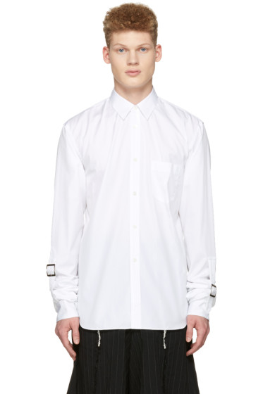 Comme des Garçons Shirt - White Adjustable Sleeves Shirt