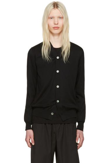 Comme des Garçons Shirt - Black Cotton Cardigan