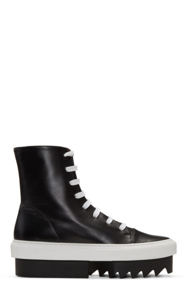 Givenchy - Black Platform Skate High-Top Sneakers