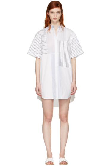 3.1 Phillip Lim - White Patchwork Shirt Dress