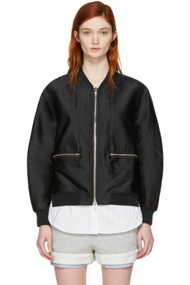 3.1 Phillip Lim - Black Trompe l'Oeil Bomber Jacket