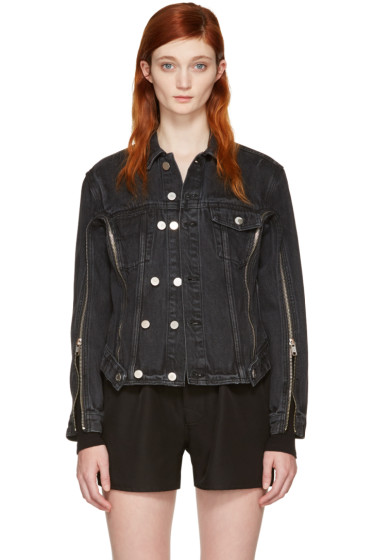 3.1 Phillip Lim - Black Denim Zip Jacket