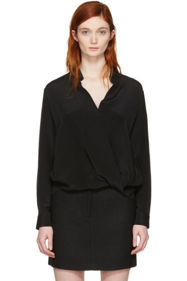 3.1 Phillip Lim - Black Silk Wrap Blouse