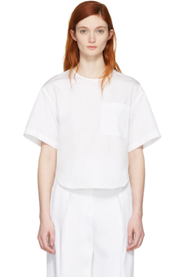 3.1 Phillip Lim - White Poplin Pocket Top