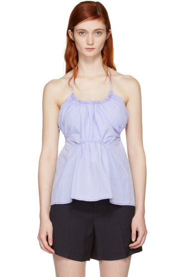 3.1 Phillip Lim - Blue Gathered Tank Top